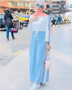 Hijab spring 2018 - just trendy girls abaya в 2019 г. Modest Fashion Hijab, Modern Hijab Fashion, Street Hijab Fashion, Muslim Women Fashion, Islamic Fashion, Abaya Fashion, Fashion Outfits, Moda Hijab, Mode Abaya
