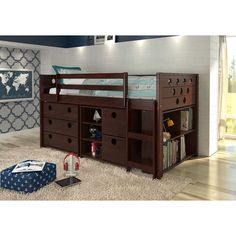 Shop for Donco Kids Circles Modular Low Loft Twin Bed. Get free delivery On EVERYTHING* Overstock - Your Online Furniture Outlet Store! Get in rewards with Club O! Bedroom Sets, Kids Bedroom, Bedding Sets, Bedroom Decor, Bedroom Furniture, Lego Bedroom, Bedroom Stuff, Master Bedroom, Bunk Beds With Drawers