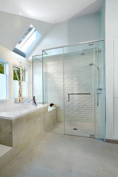 tiled showers ideas white wave tile contemporary bathroom design
