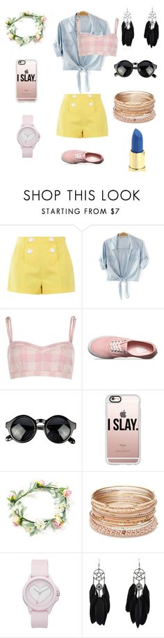 """""""Freida"""" by circuspanda on Polyvore featuring Boutique Moschino, Vans, Casetify, Red Camel and Juicy Couture"""