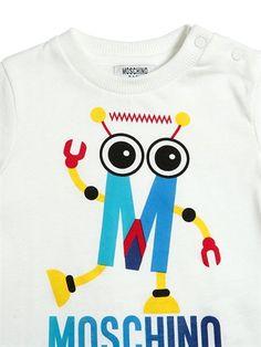 moschino - kids-boys - t-shirts - robot printed cotton jersey t-shirt Boys T Shirts, Kids Wear, Printed Cotton, Kids Boys, Moschino, Robot, Fall Winter, Birthday, Prints