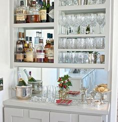 Great Idea For Bar In Great Room. DIY Narrow Built In Bar. The Creativity  Exchange