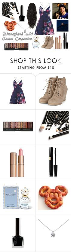 """""""Disneyland with Aaron Carpenter"""" by retailmaven ❤ liked on Polyvore featuring AX Paris, Charlotte Tilbury, Marc Jacobs, Disney and Tiffany & Co."""