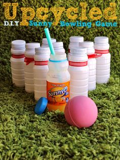 Summer is #WhereFunBegins- Get your Summer started right with a 24ct case of SunnyD 6.75oz. bottles in Tangy Original for just $5.38 on rollback at Sam's Club. Upcycle this bottles into a Sunny Day Bowling game, piggy bank, paint jars, and more to kep the fun going all Summer long! #ad