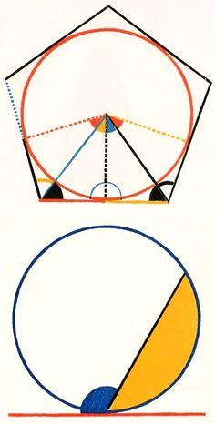 Maths angles. Geometric shapes.