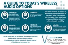 There are many benefits to having wireless audio. #VisionIntegration #Wireless #Audio #SoMobile #Sound