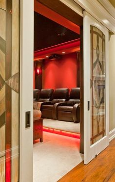 Traditional Media Room Design Pictures Remodel Decor And Ideas Theater Doors