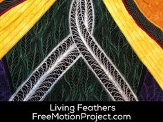 Learn how to quilt this beautiful Living Feathers design in a free video with Leah Day - http://www.freemotionquilting.blogspot.com/2015/11/machine-quilt-living-feathers-454.html