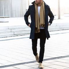 Mens fashion and style ideas - outfit accessories haircut and more. La Mode Masculine, Winter Outfits Men, Herren Outfit, Inspiration Mode, Mens Clothing Styles, Trendy Clothing, Clothing Ideas, Mode Outfits, Autumn Fashion