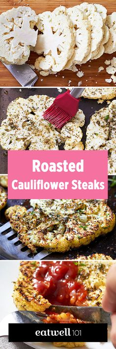 Few ingredients, big payoff! These cauliflower steaks are brushed with a mixture of olive oil and italian herbs, then roasted in the oven to crisp-tender perfection. Serve them with a smokey barbec…