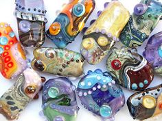 So many new colors... (sarah hornik) Tags: glass beads handmade group lampwork solittletime somanynewcolors focals