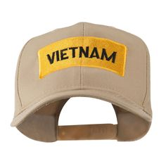 Military Badge of Vietnam Embroidered Cap - Khaki