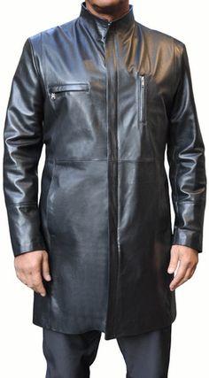 Space leather semi-coat 7/8