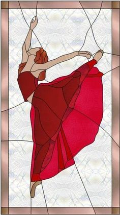 danseuse de ballet - Ballerina by Manon Cayer Love the hands Stained Glass Patterns Free, Stained Glass Quilt, Stained Glass Designs, Stained Glass Panels, Stained Glass Projects, Mosaic Art, Mosaic Glass, L'art Du Vitrail, Glass Painting Designs