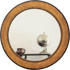 Espelho Decorativo Clássico Redondo Ouro Envelhecido 100x100cm - Decore Pronto
