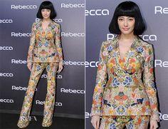Zhang Yuqi In Alexander McQueen – Rebecca Wigs Launch Event