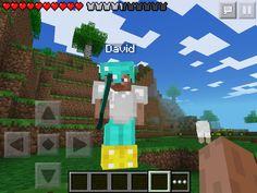My friend David on minecraft