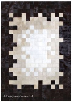 Nagano Dark Mix Rug, a luxurious handmade cowhide leather modern rug in shades of dark brown, beige & white (handmade in Spain, 6 set + custom sizes)  http://www.therugswarehouse.co.uk/modern-rugs3/girona-rugs/nagano-dark-mix-rug.html #interiors #moderndecor