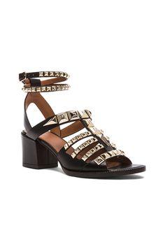 Gladiator Stud Mid Leather Heels