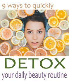 Food isn't the only way to detox. There are hidden additives in most beauty products!  But hope is not lost.  Here are 9 simple and affordable ways to detox your daily beauty routine, reduce chemicals,  heal the skin, save money, and get healthy!  http://eatyourwayclean.com/9-ways-detox-daily-beauty-routine/