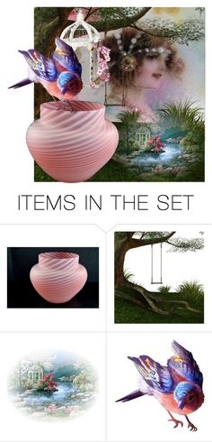 In The Garden by pattysporcelainetc on Polyvore featuring art, vintage and country