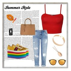 """""""Sem título #36"""" by letybaby on Polyvore featuring moda, Gucci, WearAll, Lacey Ryan, Miss Selfridge, Prada, Monica Rich Kosann, ASOS, Hard Candy e Lime Crime"""