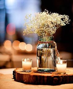 Simple, Inexpensive Wedding Table Decorations | Interstate 107                                                                                                                                                     More