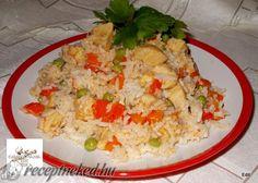 Zöldséges csirkés rizottó Hungarian Recipes, Fried Rice, Grains, Ethnic Recipes, Food, Potato, Essen, Meals, Seeds