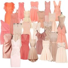 mix and match bridesmaid dresses   Bridesmaid dresses...mix and match   Coral Wedding