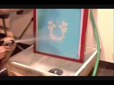 How To Screen Print: Washing Out The Stencil & Reclaiming