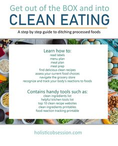 Four-week program to transition to clean eating.