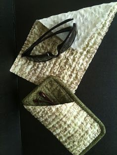 DIY ~ make eyeglass case from men's tie   Gifts To Make - Gifts To ... : quilted eyeglass case pattern - Adamdwight.com