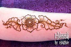 Jamilah Henna Creations Inspired Flower Forearm Henna Design with Shading