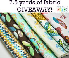 Fabric Giveaway! http://www.livingwithpunks.com/2014/08/fabric-giveaway/