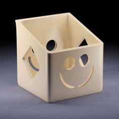 Download on https://cults3d.com #3Dprinting 3D Penholder Smiley, Pyromaniac