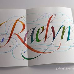 Card I am mailing to my accountant. Fun to write gratitude cards.   by JSD-calligraphy