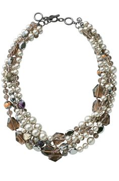 on sale only in november. when you spend  $ 50, this necklace goes half off to $79....Astor Five Strand Necklace