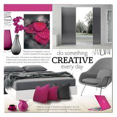 """Untitled #985"" by valentina1 ❤ liked on Polyvore featuring interior, interiors, interior design, home, home decor, interior decorating, Knoll, Nexera, WALL and Mario Luca Giusti"