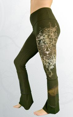 9af7c1d8dc927 Sustainable women's yoga pants. Ethically sewn and hand printed in BC,  Canada. Featuring