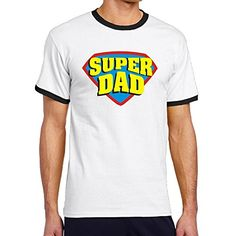 Custom Mens Twotoned New Design Super Dad Tee Shirt Black Size XXL * Check out this great product.