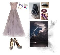 """""""Thunderstorm"""" by thespine ❤ liked on Polyvore featuring Stephen Webster, Georges Hobeika, Lanvin, Marie Hélène de Taillac, Lime Crime, purple, lightning, storm, elements and thunderstorm"""