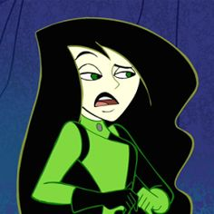 Kim Possible Shego, Tumblr Cartoon, Scary Drawings, Green Characters, Gamer Pics, T Shirt Painting, Cute Canvas, Cartoon Profile Pictures, Character Wallpaper