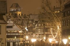 Christmas Market - Strasbourg Cathedral Square, site of the Raven, pl. Best Christmas Markets Europe, Strasbourg Cathedral, Alsace France, Weekend Deals, Amazing Destinations, Christmas Traditions, Holiday Travel, Christmas Holidays, Christmas Decorations