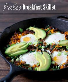 Paleo Breakfast Skillet I Trade in hash browns for butternut squash and spinach for a healthier version of this breakfast recipe.
