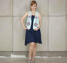 Colete feminino bordado da marca Coleteria ♡ - Coletes exclusivos | feminino e infantil | Coleteria ♡