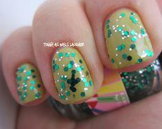 kawaii nail lacquer. slytherin.