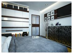 Small bedroom design Small Bedroom Designs, Old Building, One Bedroom, Small Apartments, Modern, Furniture, Home Decor, Trendy Tree, Decoration Home