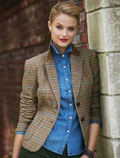 Talbots tweed jacket