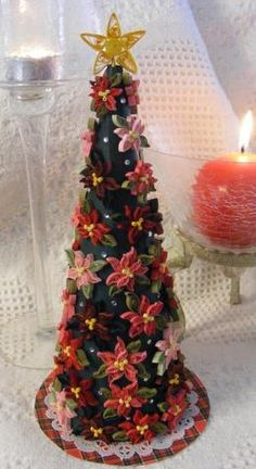 Custom Quilling Supplies: Poinsettia tree by DT Sue