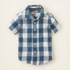 Checked Button-Down Shirt from The Children's Place - $14.95
